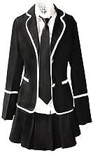 Evalent Japanese Anime Clothes Classic Navy Sailor Suit Autumn Long Sleeve Girl Students School Uniforms Costume, Black
