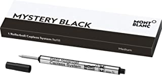 Montblanc Rollerball Capless System Refill (M) Mystery Black 113777 – Pen Refills with a Medium Tip – 1 x Black Pen Cartridge
