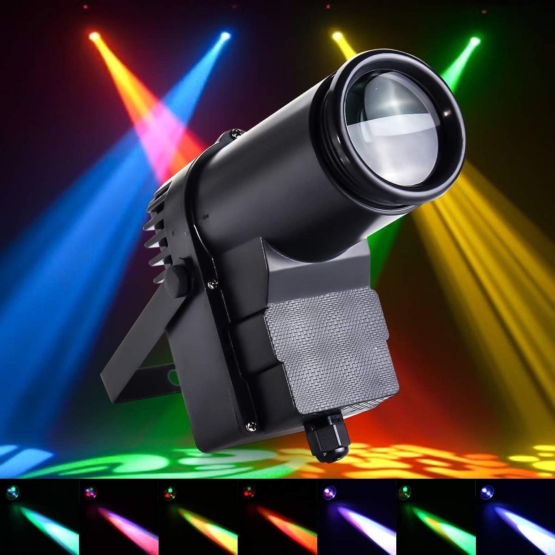 JCHUNL 30W RGBW LED DMX512 Bühnenlicht Bühnenlicht Bühnenlicht Pinspot Beam Scheinwerfer 6CH für DJ Disco Party KTV New Hot (Farbe   US Plug) B07MN3RSN4 | Angemessener Preis  895f02
