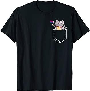 Bisexual Pride Pocket Cat T-Shirt Flag Tabby Bi Kitten Cute