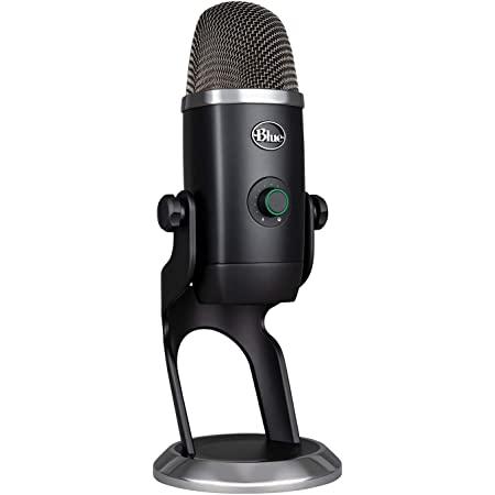 Blue Micrófono Yeti X profesional con condensador USB y medición de alta resolución, iluminación LED, botón inteligente, efectos Blue VO!CE, para gaming, streaming y podcasting en PC y Mac - Negro