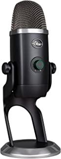 Blue Micrófono Yeti X profesional con condensador USB y medición de alta resolución, iluminación LED, botón inteligente, e...