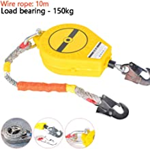 Fall Arrest Equipment with Hook and Wire Rope, Self Retracting Lifeline, Load Bearing-150kg, Specially Designed to Protect...