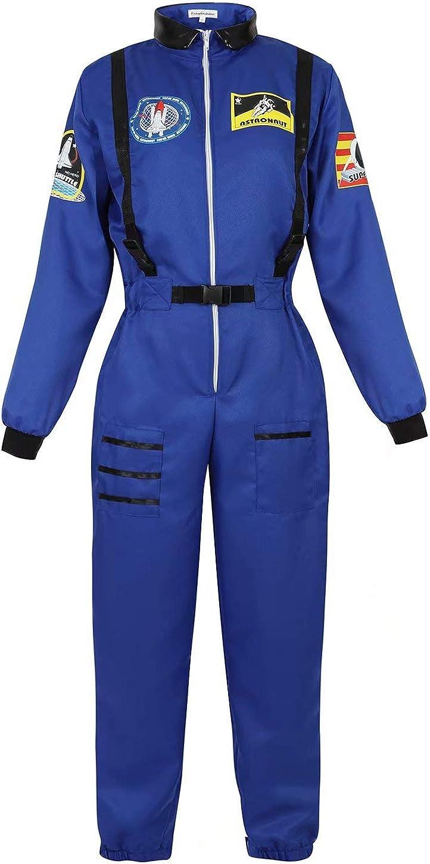 Disfraz Astronauta Adulto Mujer Traje Halloween Carnaval Americano Cadete del Espacio Cosplay