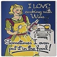 3drose 8x 8x 0.25インチのイメージFunny CookingビンテージAdポスターについてワインマウスパッド(MP 163195_ 1)