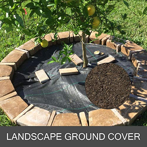 Happybuy Landscape Fabric 6.5ft x 300ft - Geotextile Fabric Heavy Duty 3oz - Ground Cover Woven for Commercial Greenhouse, Yard, Garden Barrier Cloth Blocker Mat