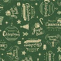 ササガワ タカ印 ラッピングペーパー クリスマス 包装紙 コルテスグリーン 全判 49-4066