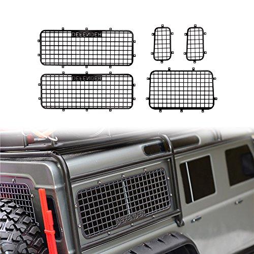 INJORA TRX4 Zubehör RC Fenster Netz Metall Fenstergitter Schutznetz mit Logo für 1/10 RC Crawler Auto Traxxas TRX-4