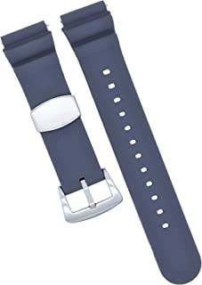 MOD 20mm Watch Band - Grey - Quick Release - Soft Silicone Replacement Watch Strap - Diver Style - for Men and Women