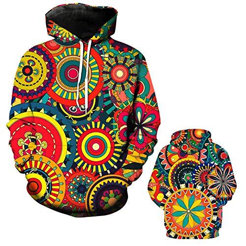 Hommes Sweat-Shirt_Impression numérique 3D Abstraite Pull Automne New Trend Wild Veste à Capuche Halloween Pull Unisexe Noir/Rouge/Jaune XL 2XL 3XL 4XL