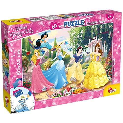 Lisciani Giochi- Princess Puzzle Doppia Faccia, 60 Pezzi, Multicolore, 74044