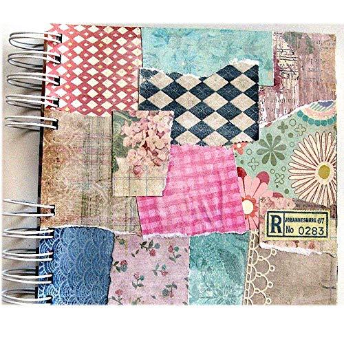 DIY Mini Scrapbook Collage Background Cardboard Album 6 x 7 Spiral Bound 10 Pages Add Photos and Journaling
