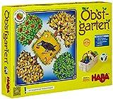 Haba 4170 - Obstgarten Spannendes Würfelspiel, mit 40 Früchten aus Holz und leicht verständlichen Spielregeln, beliebtes Brettspiel ab 3 Jahren