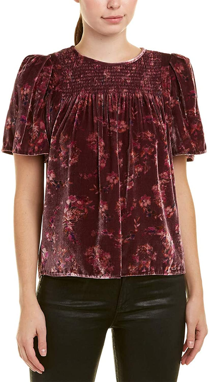 Rebecca Taylor Women's Smocked SilkBlend Top