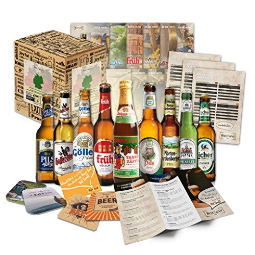 'BIRRE DA GERMANIA' confezione regalo originale con le 9 migliori birre da Germania. Il miglior dettaglio per un amico, fidanzato, fratello, padre o nonno.