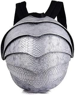 Rjj School Bag/Shoulder Bag/Student Computer Bag/Beetle Backpack/Snake Leather Man Bag Exquisite (Color : Gray)