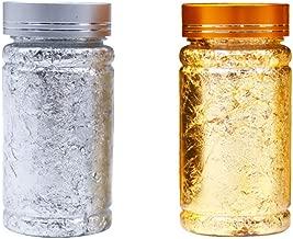 Healifty Foil Paillette Chip Foil Nail Glitter Gold Leaf Schabin Flakes Metallic Foil Flakes for Gilding Painting Arts Crafts 6g (Golden+Silver)