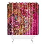 DENY Designs Stephanie Corfee Duschvorhang mit Blumenmuster, 183 x 19,1 cm, beerenfarben
