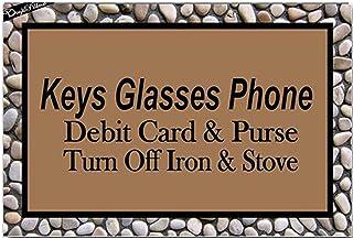 Keys Glasses Phone Debit Card & Purse Turn Off Iron & Stove Entrance Floor Mat Funny Doormat Door Mat Decorative Indoor Ou...