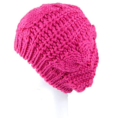 Juccini Women Winter Warm Baggy Chunky Knitted Braided Beanie Hat