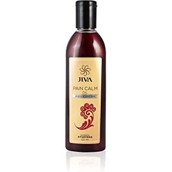 Jiva Ayurveda 's Pain Calm Oil relief from muscular and joint pain-120 ml