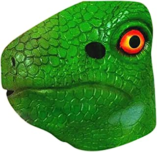 Mullue Halloween Scary Props The Conjuring Devil Horror Masks with Costume, Dinosaur Mask Halloween Masquerade Festival Emulsion Realistic Costume Toy