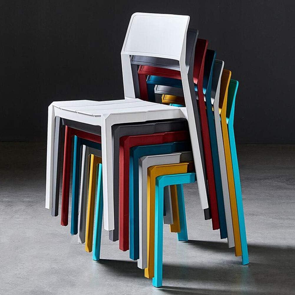 DALL Chaise De Salle À Manger Lot De 2 Empilable Chaise De Table Plastique Chaise De Maquillage Restaurant Lounge Room Chaise De Réception 50X45X82cm (Color : White) Gray 1