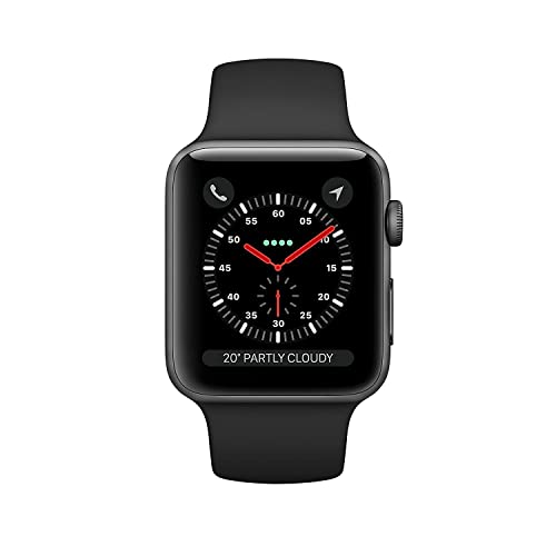 Apple Watch Series 3 42mm Smartwatch (GPS + Cellular, Space Gray Aluminum Case,