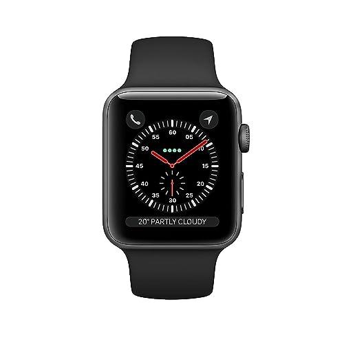 Apple Watch Series 3 42mm Smartwatch (GPS + Cellular, Space Gray Aluminum Case,