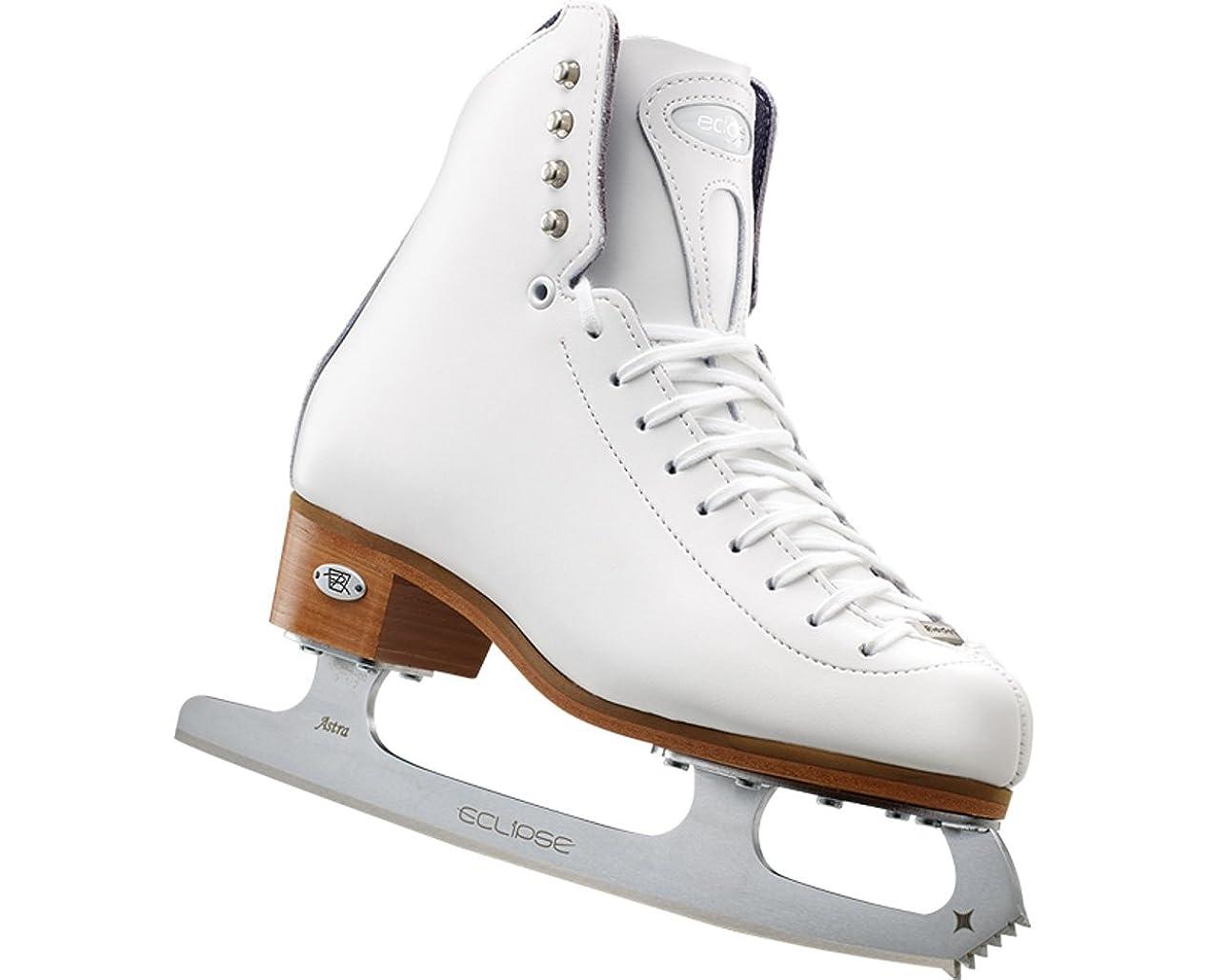 運命コンセンサス標高Riedell 29 Edge - White Girls Figure Skate Medium 13.5