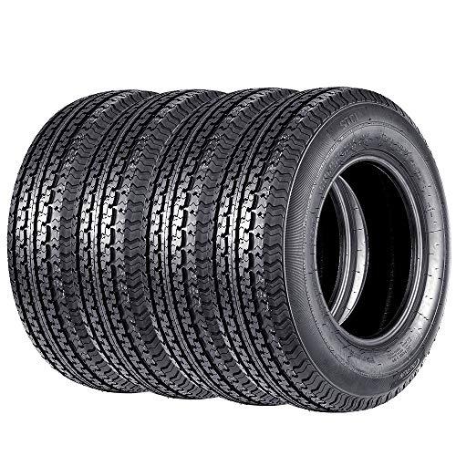 Set of 4 225/75R15 Trailer Tires Premium DOT ST225/75R15 22575R15 10PR Radial Tires, Load Range E (4)