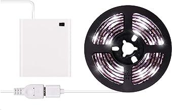أضواء شريط LED تعمل بالبطارية - 2019 تصميم جديد بارد أبيض USB LED مجموعة شريط مع 6.6FT 2M SMD 3528 IP65 شريط إضاءة LED فائ...