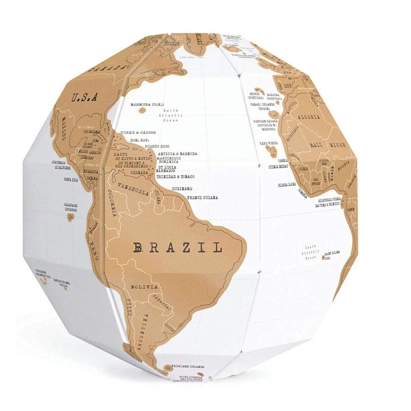 サーキュレーションストライクつかむBeho 3D DIYスクラッチグローブステレオアセンブリスクラッチグローブテルリオンセット世界地図旅行地理教育装置