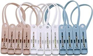 Générique LIGHTBLUE Épingles à Linge Coupe-Vent Clips Suspendus de blanchisserie en métal Solide pour la Ligne de Lavage