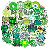 Stickers for Water Bottles, | Big 46-Pack | Cute,Aesthetic,Trendy Stickers for Teens,Girls,Perfect for Laptop,Hydro Flask,Phone,car,Skateboard,Travel| Extra Durable 100% Vinyl (Green-50)