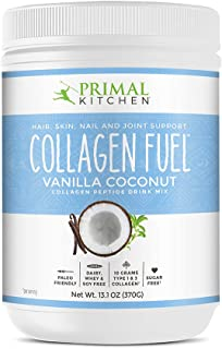 Primal Kitchen Collagen Fuel Protein Mix, Vanilla Coconut - Non-Dairy Coffee Creamer & Smoothie Booster- Supports Healthy ...