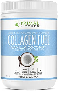 Primal Kitchen Collagen Fuel Protein Mix, Vanilla Coconut - Non-Dairy Coffee Creamer & Smoothie Booster- Supports Healthy Hair, Skin, Nails and Joints, Promotes Muscle Repair,13.1 Ounce (Pack of 1)