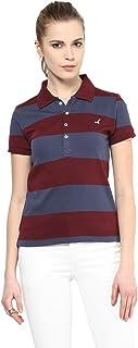 AMERICAN CREW Women's Cotton Blend Polo T-Shirt