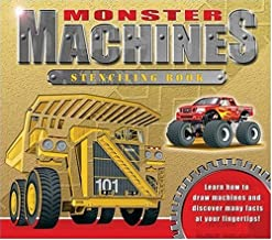 Monster Machines Stenciling Book