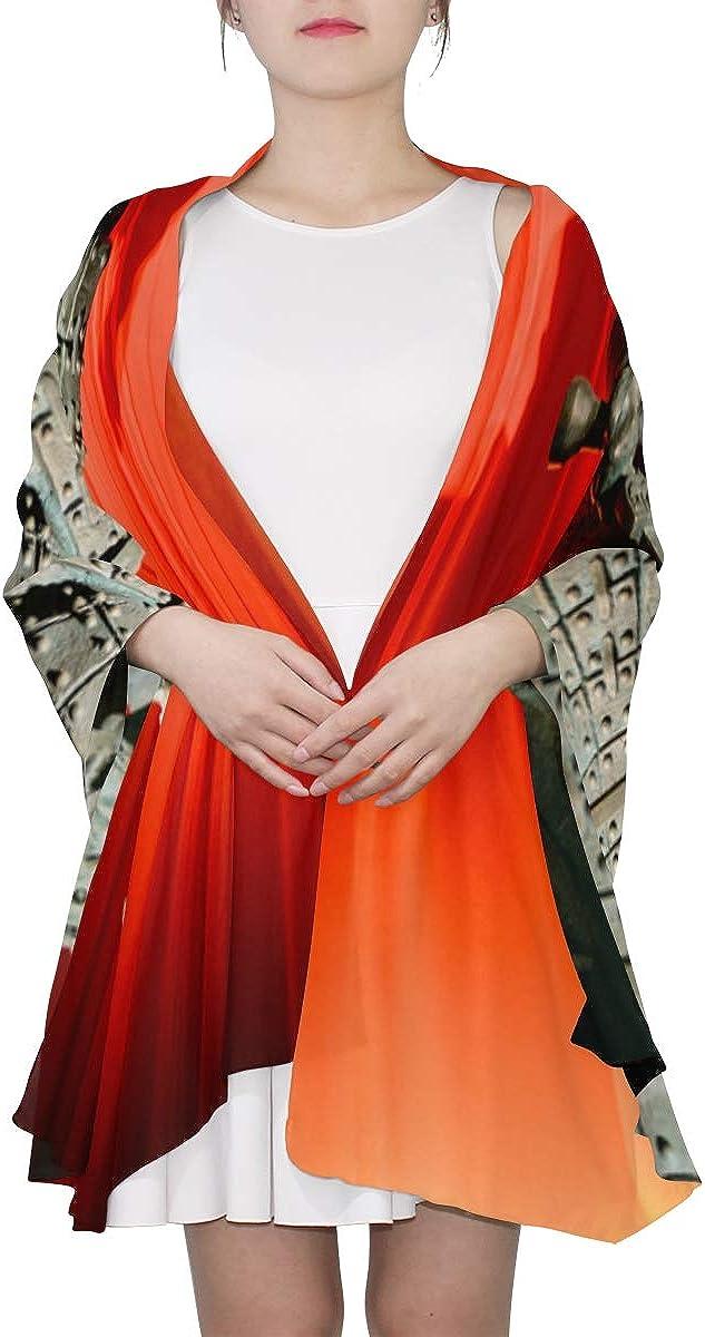 Il Patrimonio Di Tutto Il Mondo, Di Terracotta Unique Fashion Scarf For Women Lightweight Fashion Fall Winter Print Scarves Shawl Wraps Gifts For Early Spring