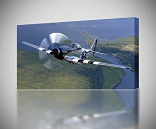 Military P-51 Mustang Aircraft 3D Smashed Wall Sticker Decal Art Mural J1175