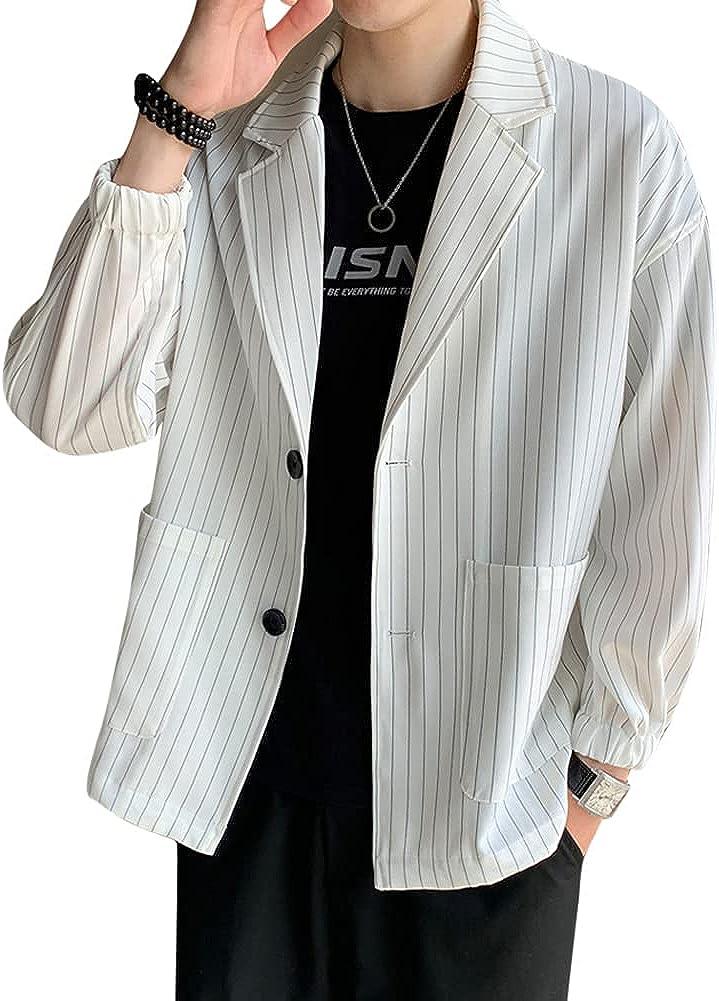 Men's Casual Two Button Suit Blazer Jacket Sport Coat Lightweight Suit Sport