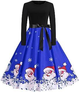 Modern Christmas Dress Women Vintage Printing Boho Polka Dot Long Sleeve Loose Maxi Evening Party Dress Prom Cocktail Pin ...