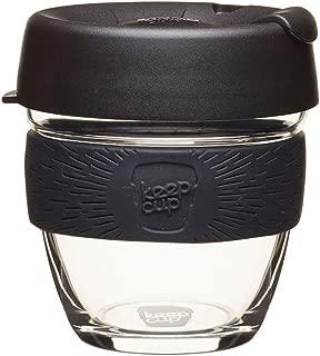 KeepCup BBLA08 Glass Reusable Coffee Cup, 8 oz/Small, Black