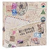 Quantio HENZO Einsteck Fotoalbum Discover - für 200 Bilder 10x15 cm - Bilderalbum - Einsteckalbum - Album - Urlaubsalbum