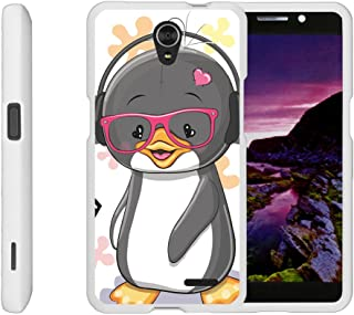 Compatible with ZTE Sonata 3 Case | Maven 2 Case | Chapel Case [Slim Duo] Hard Shell Snap On Case Compact Cover Matte on White Sea Ocean Design by TurtleArmor - Cute Penguin
