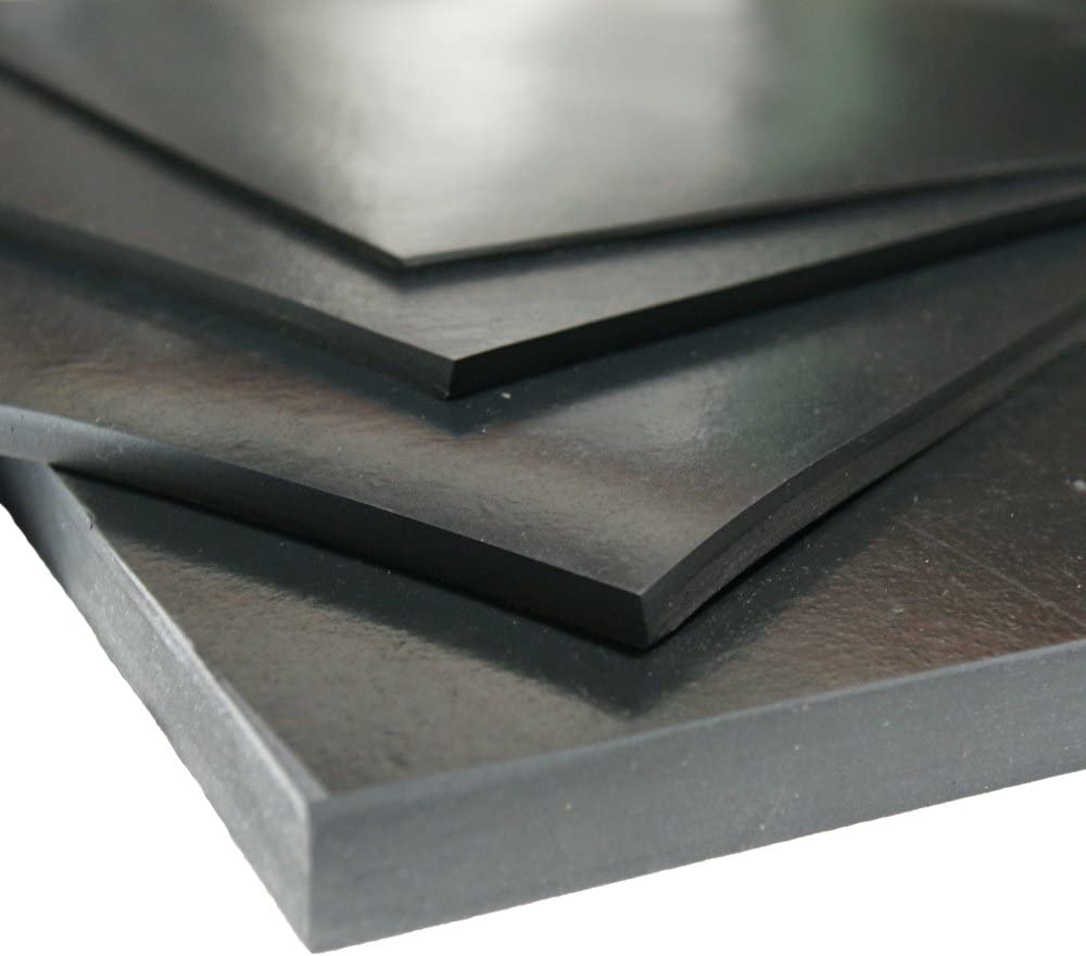 60A 8 Pack Commercial Grade Rubber-Cal Rubber Sheet 1//8 Thick x 4 Width x 4 Length Neoprene