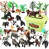 BOROK 3D Puzzle Wilde Tiere Bär Tiger Leopard Spielzeug 23 Stück Knobelspiele Kunststoff für Kinder Adventskalender -