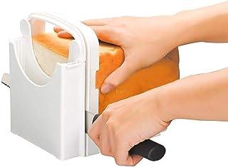 Bread Slicer, Adjustable Bread/Roast/Loaf Slicer Cutter, Sandwich Maker Toast Slicing Machine Folding and Adjustable Hande...
