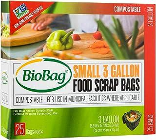 BioBag Compostable Countertop Food Scrap Bags, 3 Gallon, 300 Count